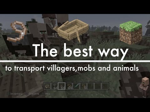 how-to-transport-villagers-in-minecraft-2020!-*best-way*-[easy-way]