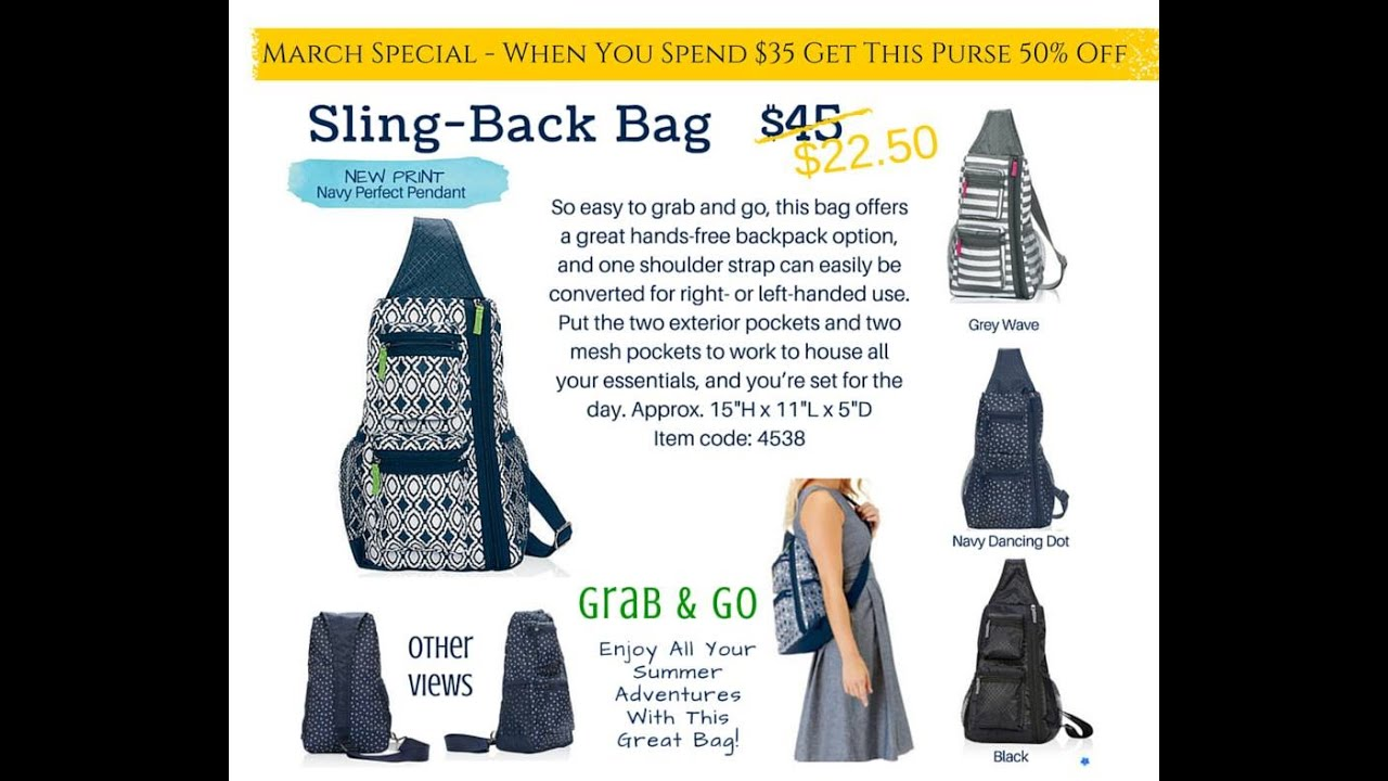 Slingback Pack from Thirty-One Gifts - YouTube