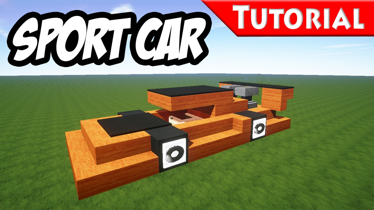 Minecraft Easy Sport Race Car Tutorial Ferrari Style How To