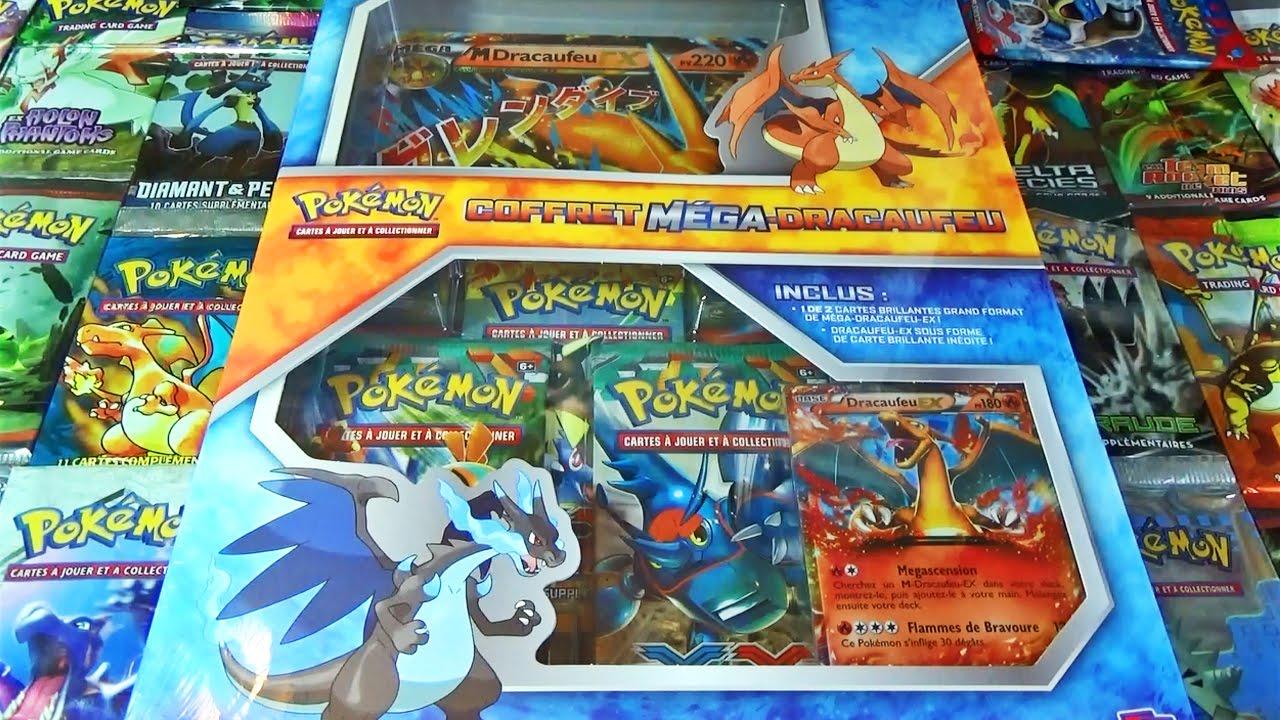 Ouverture Du Coffret Pokémon Mega Dracaufeu Y Ex Ma Full Art Xy3 Yeah D
