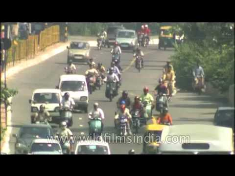 Smooth flow of traffic in the Indian capital city of Delhi