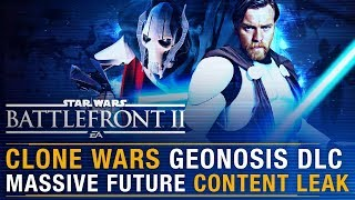 MASSIVE Clone Wars Geonosis DLC Leak + Current State & Future of Game Explained   Battlefront Update