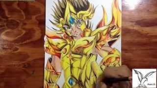 Dibujando a aioria de leo, soul of gold, how to draw aioria