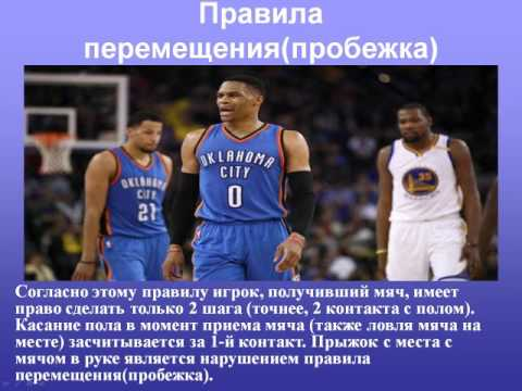Правила игры баскетбол