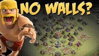 WTF MY WALLS | Clash of Clans | Clash without walls