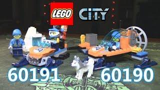 LEGO CITY 60190 Аэросани и 60191 Команда исследователей Арктики (ОБЗОР)