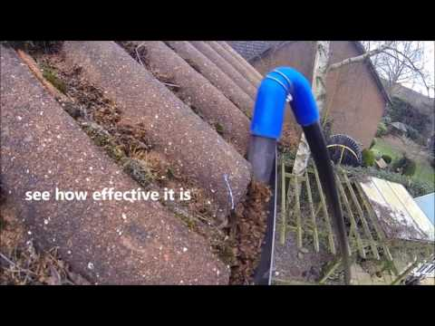 Gutter Cleaning from the safety of the ground using a SkyVac