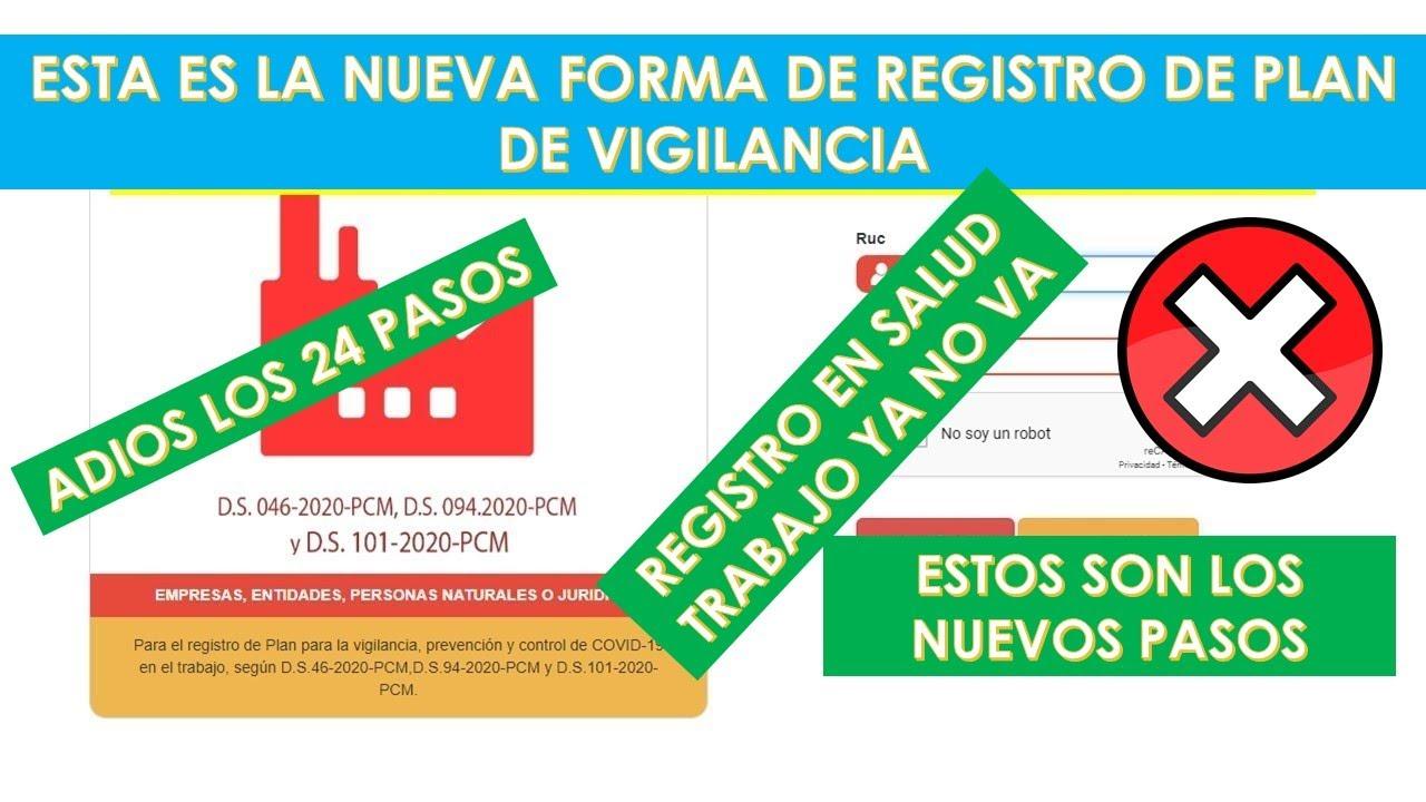 Esta es la nueva forma del Registro del Plan de Vigilancia para reanudar actividades|Paso a paso