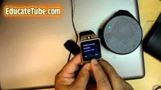 GV18 Aplus Smart Watch Review Specs Part 2 - Bluetooth, SIM card, Micro SD card test