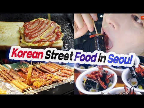 KOREAN STREET FOOD in Seoul, Food Tour in South Korea