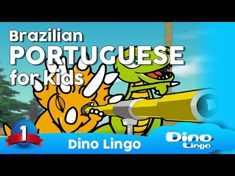 DinoLingo Portuguese for kids - Learning Brazilian Portuguese for kids - Portuguese lessons