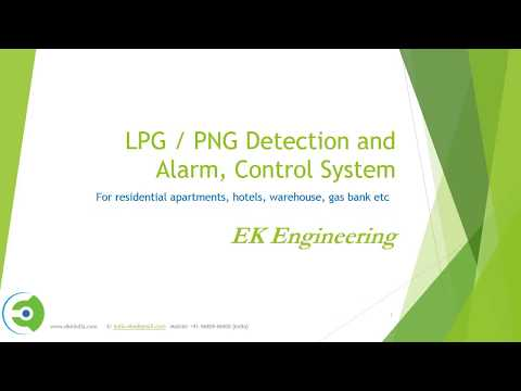 LPG, PNG (methane) leakage monitoring - pipeline gas supply in building, hotels