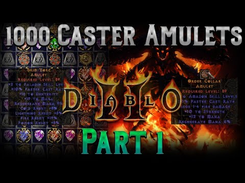 Crafting 1000 Caster Amulets!! Diablo 2 - Part 1