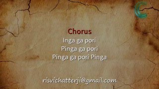 Pinga | Bajirao Mastani | Karaoke with Lyrics