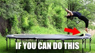 Trampoline Hacks to Learn Backflip on Ground