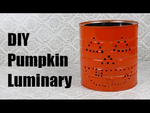 Coffee Can Pumpkin Luminary