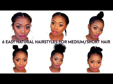 Back To School Quick Natural Hairstyles For Short Medium Hair