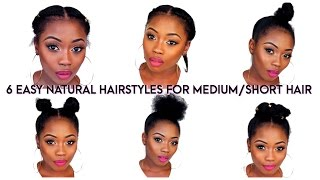 One of Lizzie Loves's most viewed videos: 6 BACK TO SCHOOL QUICK NATURAL HAIRSTYLES FOR SHORT/MEDIUM HAIR | LIZZIE LOVES