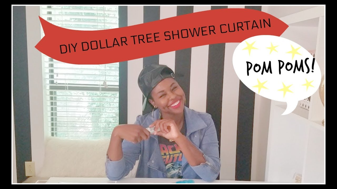 DIY DOLLAR TREE SHOWER CURTAIN