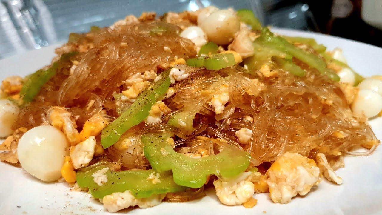 มะระผัดไข่ใส่วุ้นเส้น เมนูสุดอร่อยของครอบครัว l อร่อยพุง