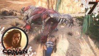 CONAN EXILES (NEW SEASON) - EP07 - Solo Camp Raid! (Gameplay Video)