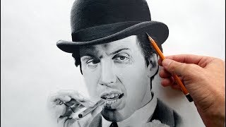 Портрет карандашом Адриано Челентано. (Adriano Celentano- drawing portrait).