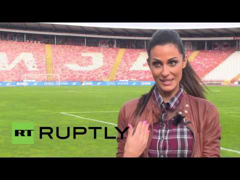 Serbia: Beautiful TV presenter 'loses her nerves' during Red Star matches