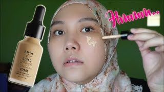 Review & 8hr Wear Test: Nyx Total Control Drop Foundation | Izzati Sheikha