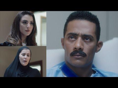 زيارة فيروز لزين بعد الاصابة - مسلسل نسر الصعيد - محمد رمضان