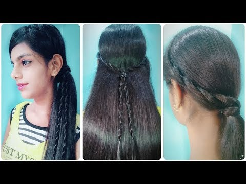 How To Make 3 Simple Easy Hairstyle With Rope Braid Rope Braid