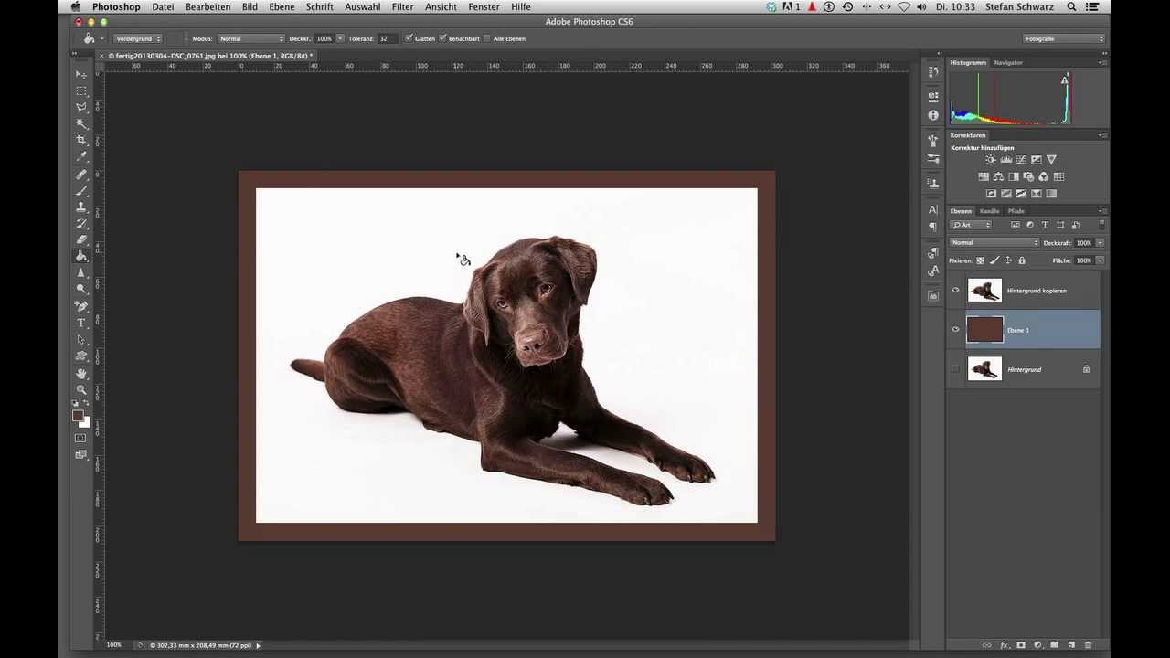 Fotos rahmen mit Hilfe von Photoshop. - YouTube