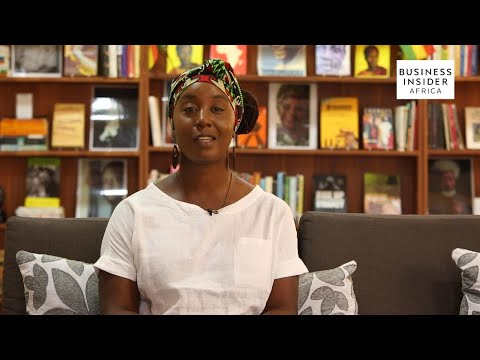 Sylvia Arthur founder, owner of a private library in Accra showcasing the best of African literature