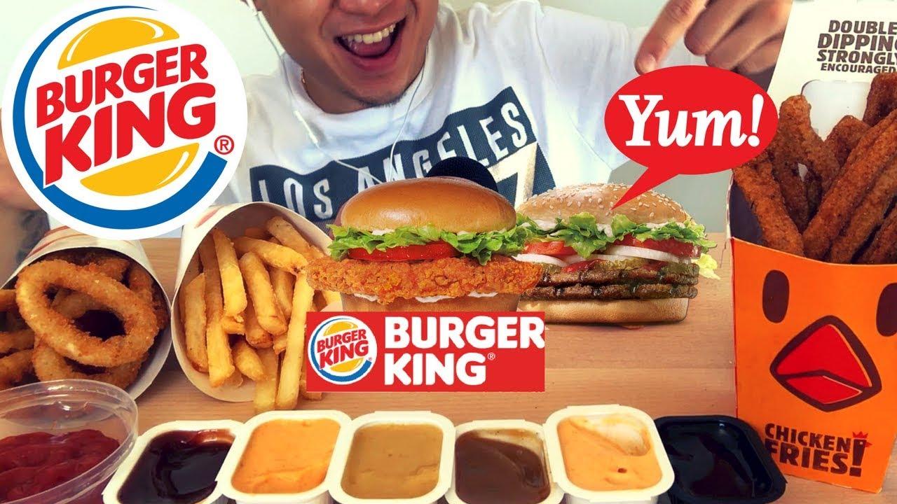 Asmr Burger King Spicy Crispy Chicken Whopper No Talking Satisfying Eating Sounds Mukbang