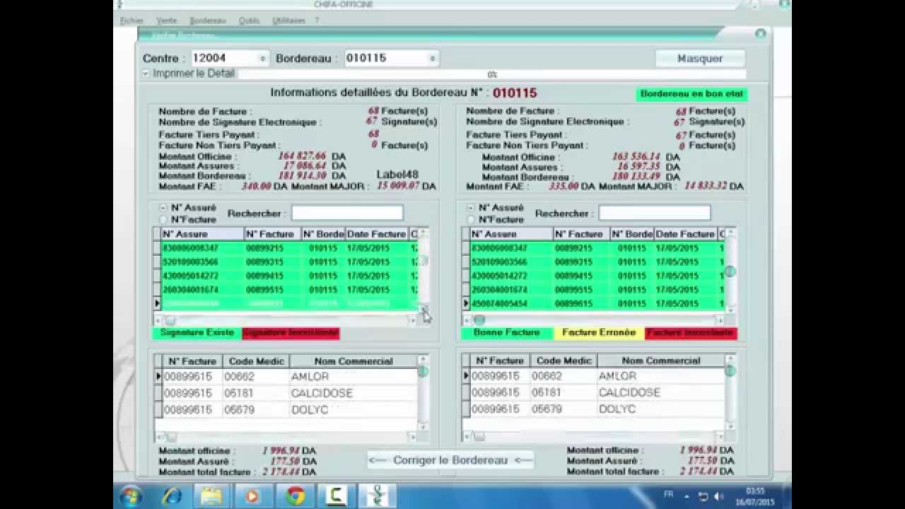 logiciel chifa officine algerie