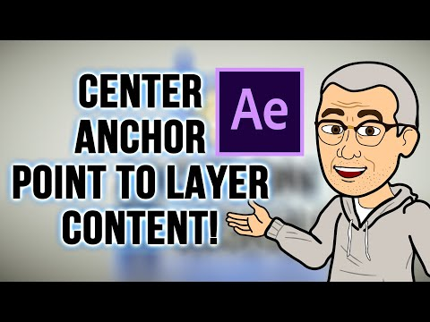 AFTER EFFECTS: Quick Tip - Center Anchor to Layer