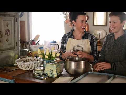 FRENCH FARMHOUSE | Tasha Tudor | EINKORN cookies | Grandma's Oatmeal Cookies