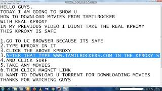 HOW TO DOWNLOAD MOVIES FROM TAMILROCKERS IN THE SAFEST WAY | BIDUL TECH
