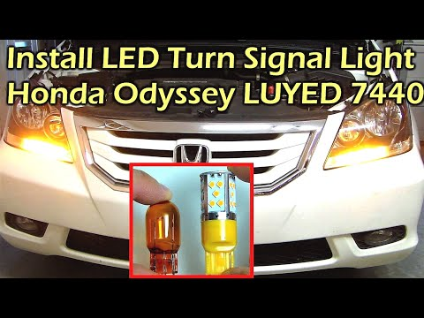 Install LED Turn Signal Light Honda Odyssey LUYED 7440