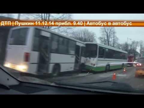 ДТП Автобус в автобус! Пушкин, СПб 11.12.14 (последствия)
