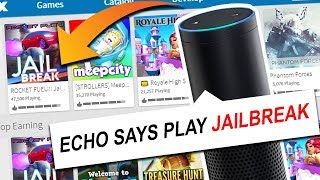 AMAZON ECHO CHOOSES WHAT GAME I PLAY! (Roblox)