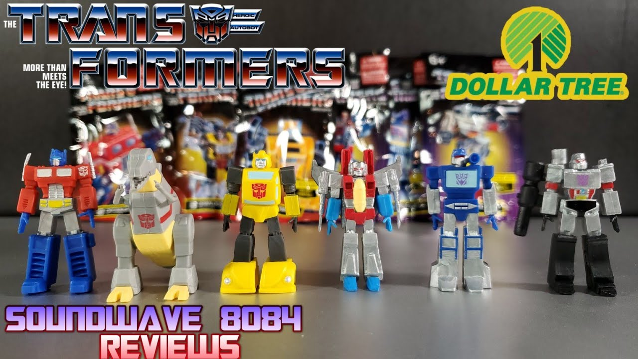 $1 Transformers From Dollar Tree Review by Soundwave 8084