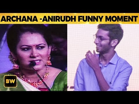 Archana's Ultimate Fun with Anirudh - Crowd Reacts CRAZY