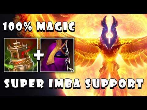 Play [Phoenix] Support With Axe In Offlane Is Super Crazy Game | Dota 2 7.23