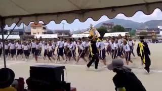 宇和島市立城南中学校体育祭2016