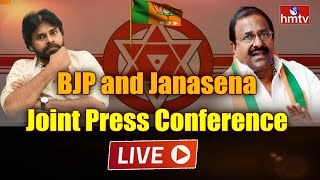 BJP and Janasena Joint Press Conference LIVE | Pawan Kalyan, Somu Veerraju | hmtv