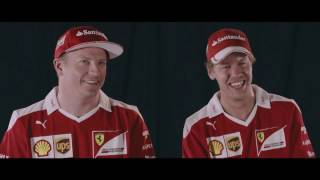 Seb and Kimi play the trumpet! | AutoMotoTV