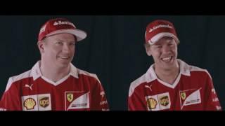 Seb and Kimi play the trumpet! | AutoMotoTV
