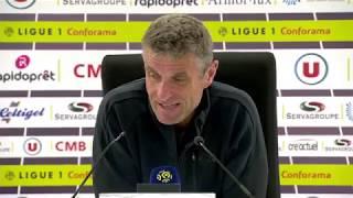 EA Guingamp - Nîmes Olympique (2-2) : Conférence de presse