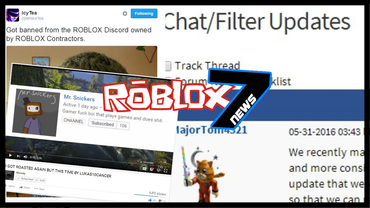 R7N | Chat/Filter Blacklist Update! Nixanity vs Mr  Snickers, IcyTea BANNED  From ROBLOX Discord