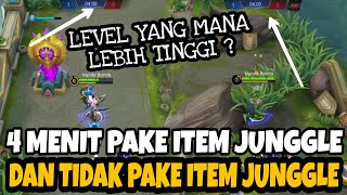 KUPAS TUNTAS MASALAH ITEM JUNGLE 4 MENIT PAKE ITEM JUNGLE VS GA PAKE ITEM JUNGLE - Mobile Legends